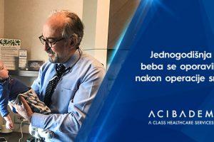 Jednogodišnja beba se oporavila nakon operacije srca