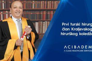 Prvi turski hirurg član Kraljevskog hirurškog koledža